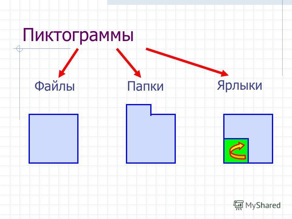 Пиктограммы ПапкиФайлы Ярлыки