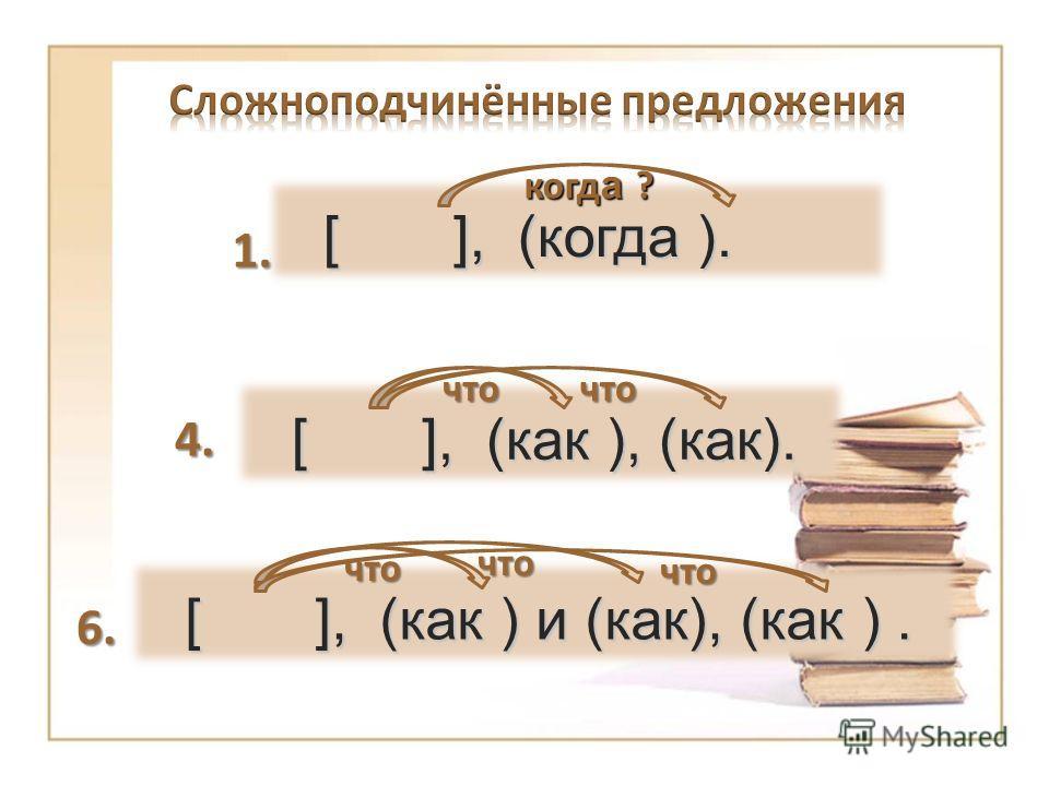 [ ], (когда ). когд а ? 1. 4. 6. [ ], (как ), (как). что что что [ ], (как ) и (как), (как ). что что что