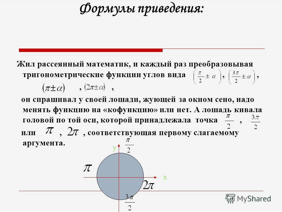 Чтобы указать значения тангенса и котангенса тех же углов достаточно вспомнить ОТТ, т.е tg α =, а котангенс взаимно обратная функция для тангенса.