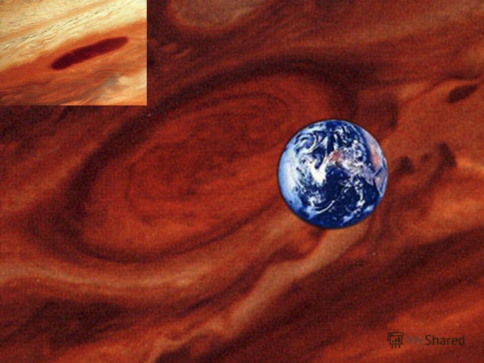 Большое Красное Пятно. Долгоживущий атмосферный вихрь размером 15×25 тыс. км в атмосфере Юпитера. В атмосфере Юпитера обнаружено также белое пятно размером более 10 тысяч км.