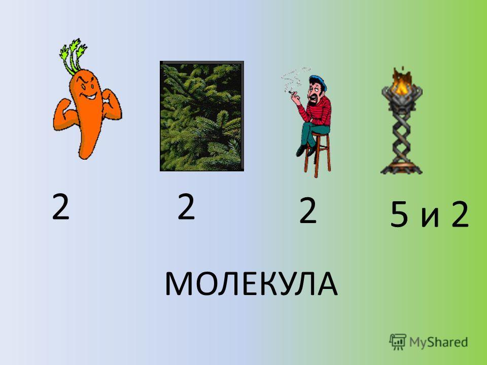 22 2 5 и 2 МОЛЕКУЛА