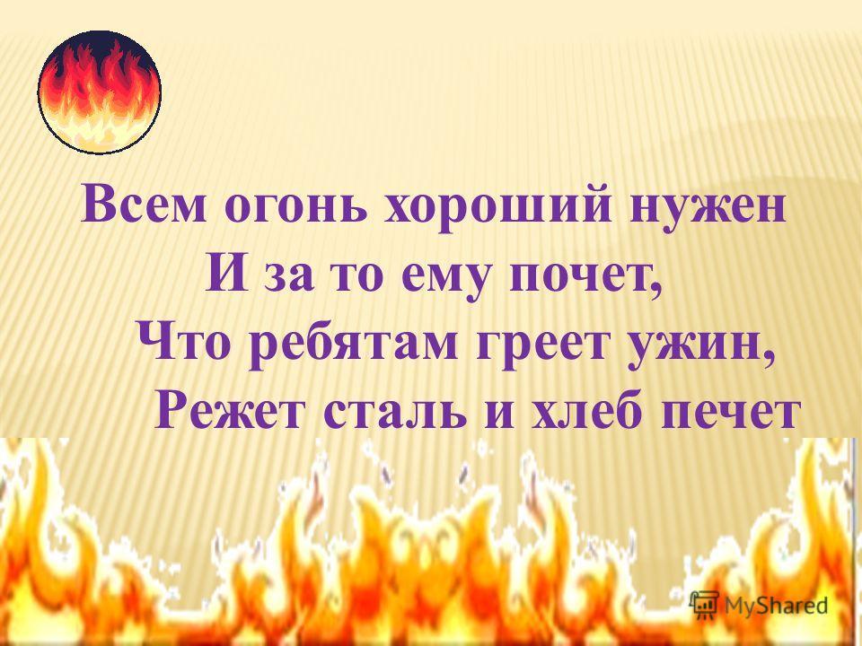 «Огонь – наш друг, и враг»