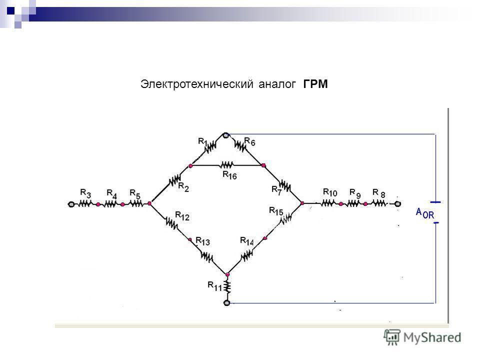 Электротехнический аналог ГРМ