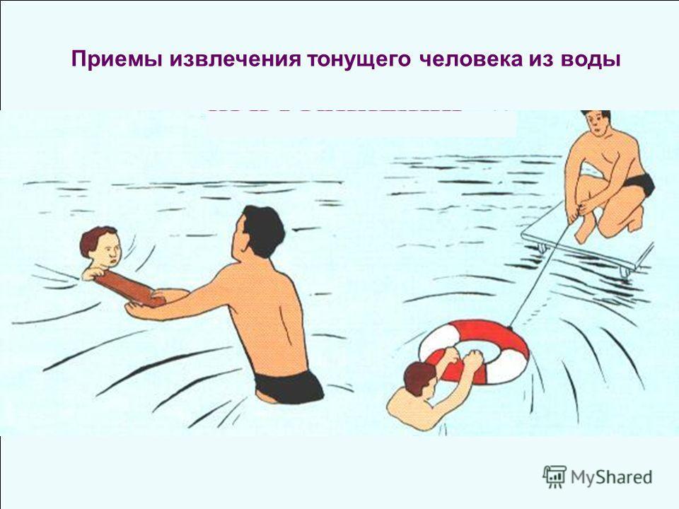 Приемы извлечения тонущего человека из воды