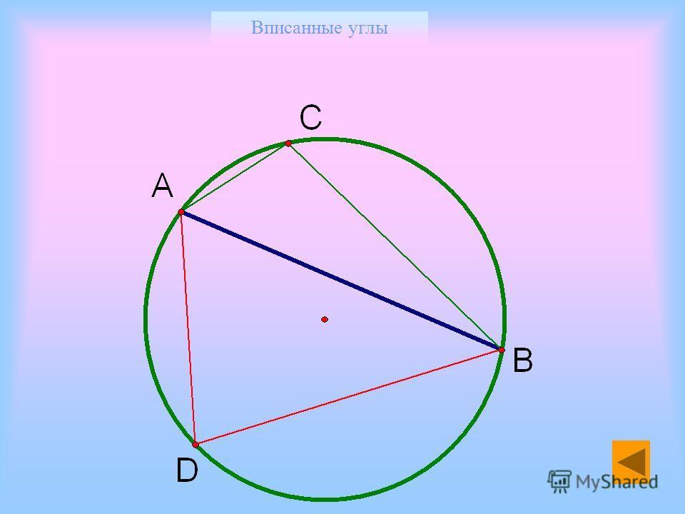 Вписанные углы 2. Центральный угол на 65 больше вписанного угла, опирающегося на ту же дугу. Найдите каждый из этих углов. 3. Найдите вписанный угол, опирающийся на дугу, которая составляет: а) окружности; б) 10 % окружности. 4. Хорда делит окружност
