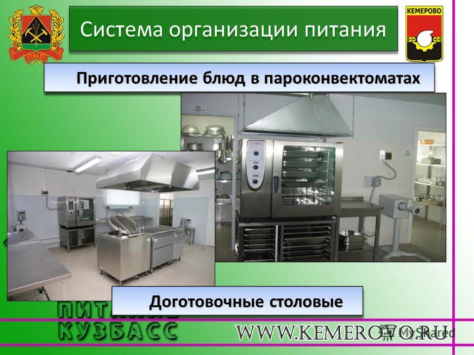 Система организации питания Приготовление блюд в пароконвектоматах Доготовочные столовые