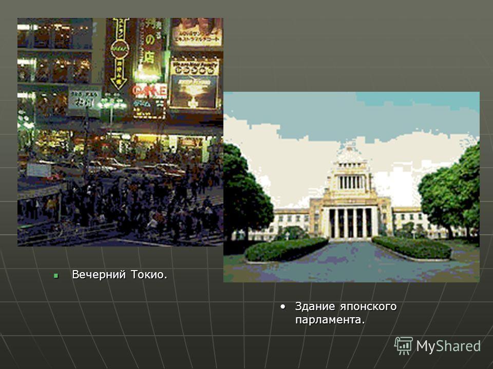 Вечерний Токио. Вечерний Токио. Здание японского парламента.