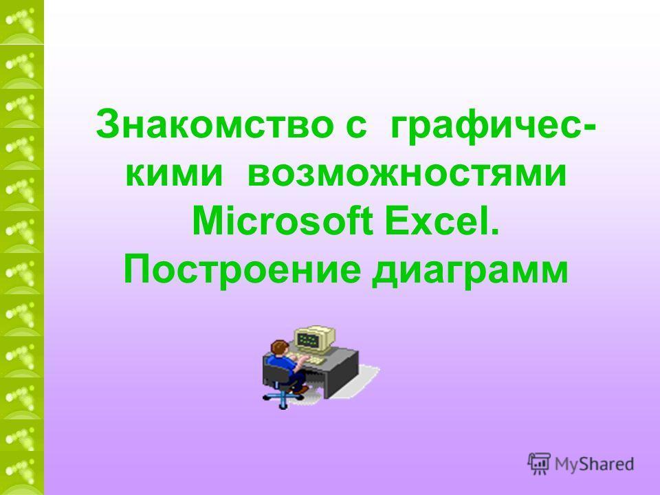 Знакомство с графичес- кими возможностями Miсrosoft Excel. Построение диаграмм