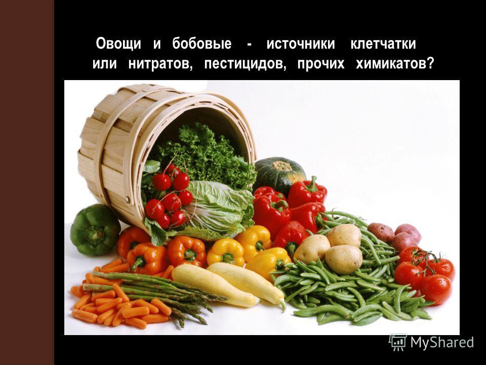 Овощи и бобовые - источники клетчатки или нитратов, пестицидов, прочих химикатов?