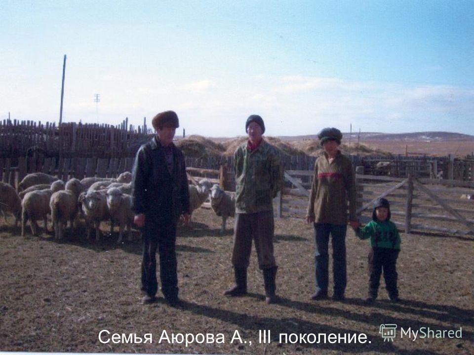Семья Аюрова А., III поколение.