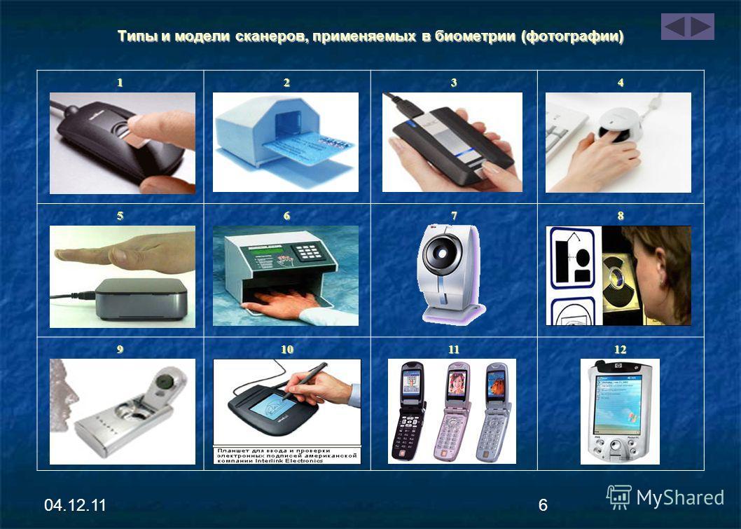 04.12.115 Типы и модели сканеров, применяемых в биометрии Оптический дактосканер – 1 Оптический дактосканер – 1 Оптико-волоконный дактосканер – 2 Оптико-волоконный дактосканер – 2 Протяжный дактосканер – 3 Протяжный дактосканер – 3 Сканер вен пальца