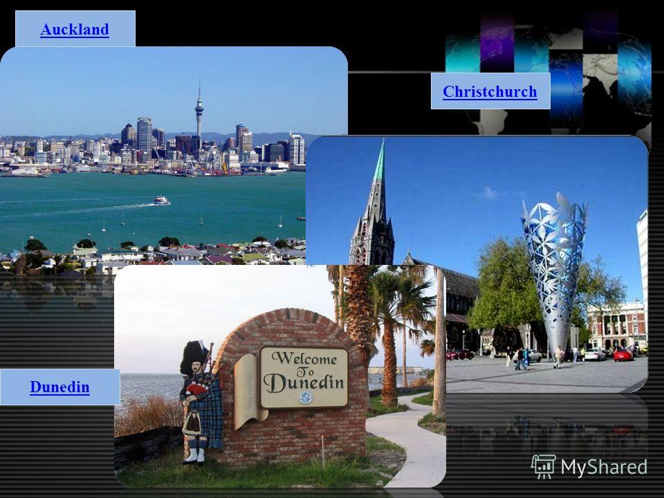 Auckland Christchurch Dunedin