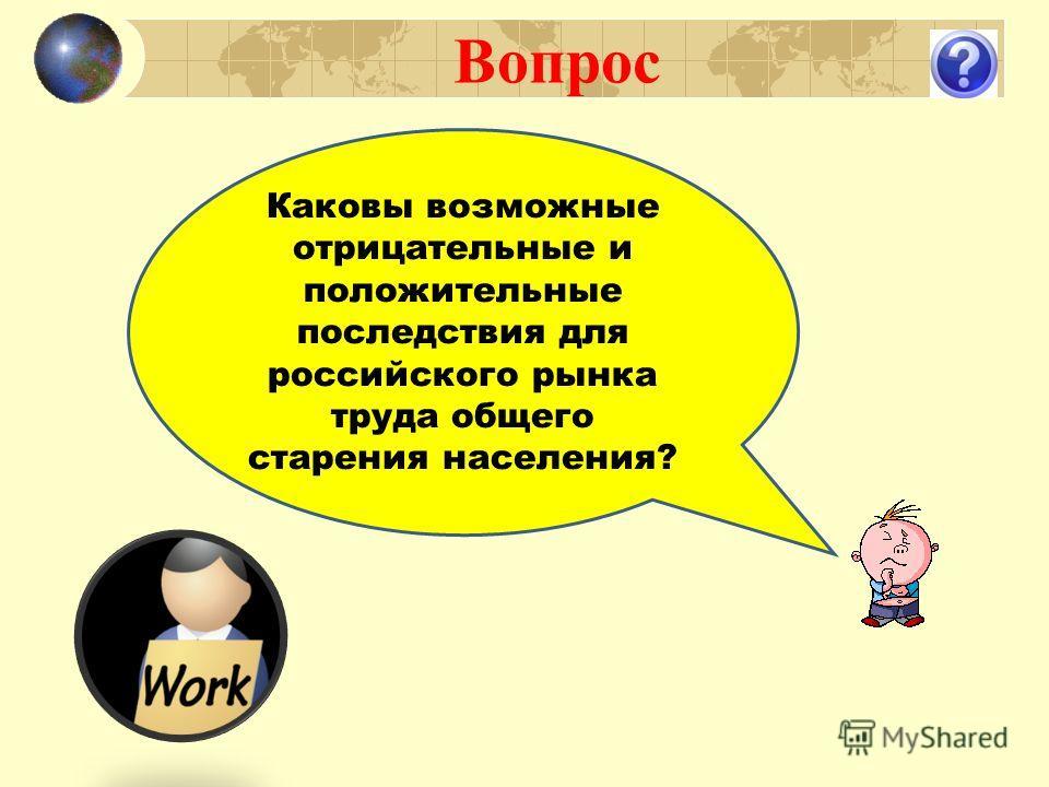 Вопрос Каковы возможные отрицательные и положительные последствия для российского рынка труда общего старения населения?