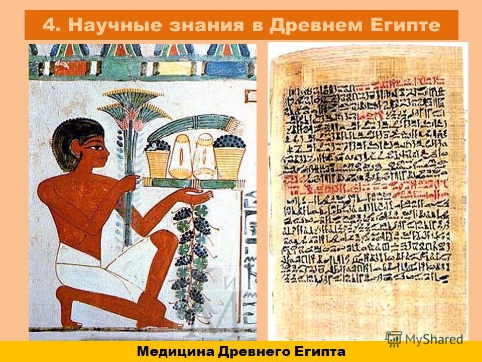 4. Научные знания в Древнем Египте Медицина Древнего Египта