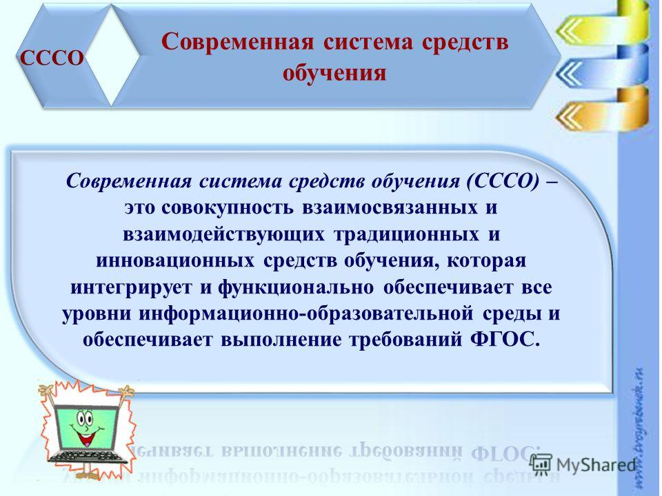 Современная система средств обучения СССО