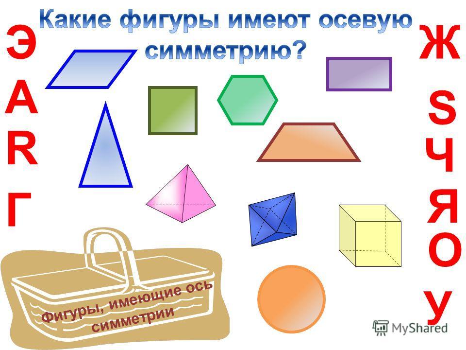R А Г ЭЖ Ч О S Я У Фигуры, имеющие ось симметрии