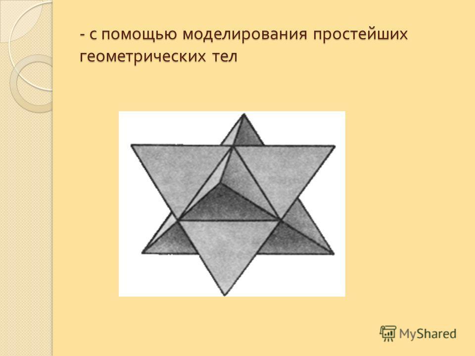 - с помощью моделирования простейших геометрических тел