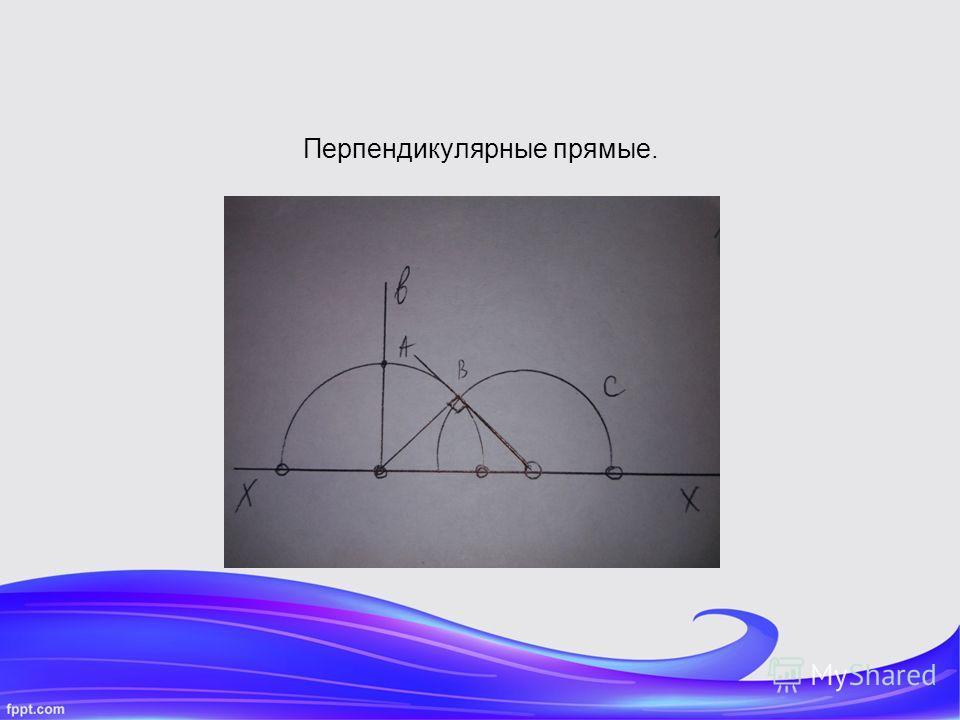Перпендикулярные прямые.
