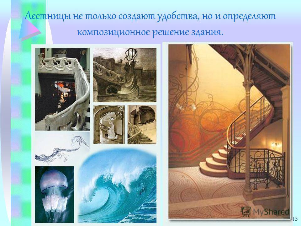 13 Лестницы не только создают удобства, но и определяют композиционное решение здания.