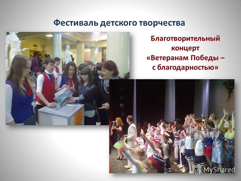 Фестиваль детского творчества Благотворительный концерт «Ветеранам Победы – с благодарностью»