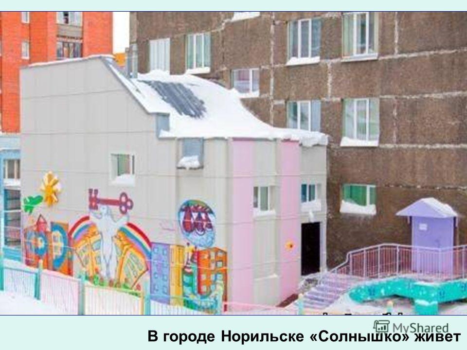 В городе Норильске «Солнышко» живет