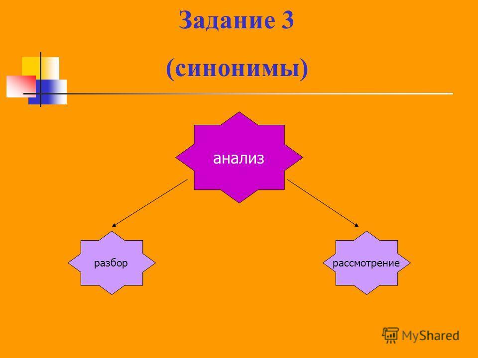 анализ разборрассмотрение Задание 3 (синонимы)