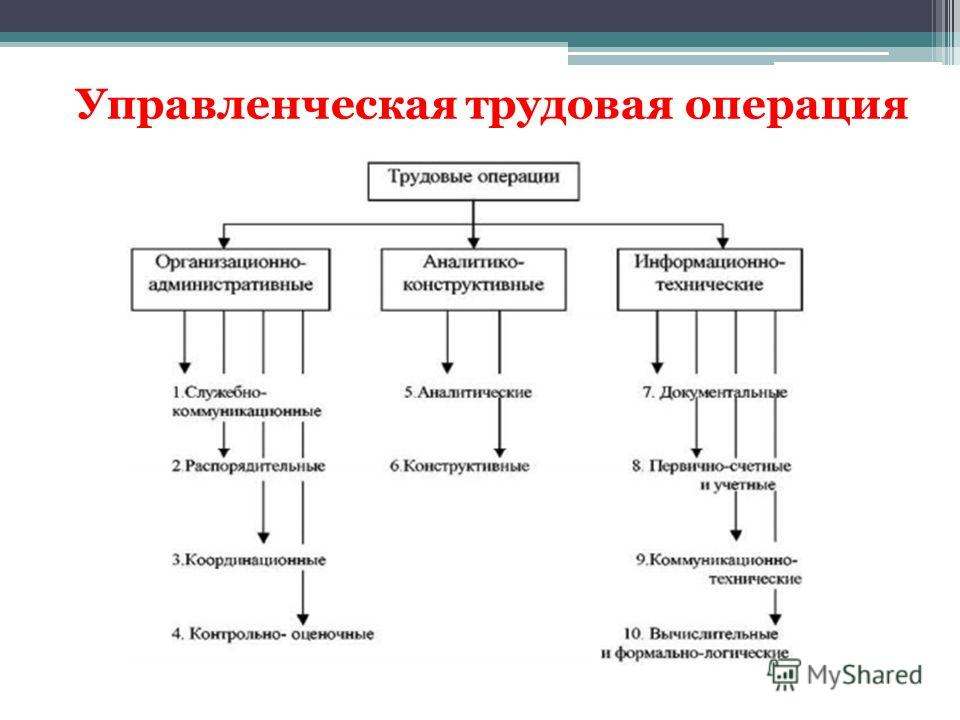 Управленческая трудовая операция
