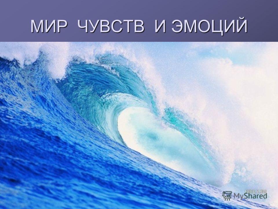 МИР ЧУВСТВ И ЭМОЦИЙ