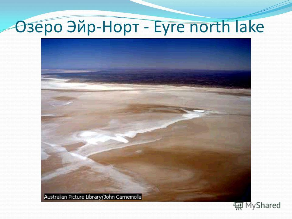Озеро Эйр-Норт - Eyre north lake