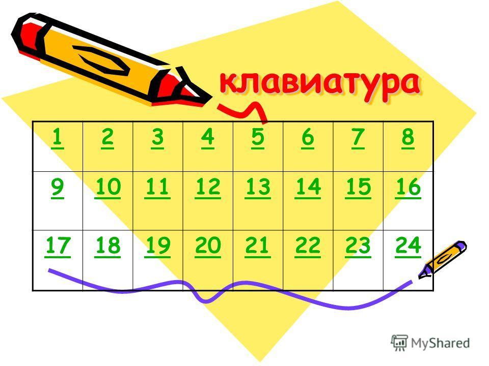 клавиатураклавиатура 12345678 910111213141516 1718192021222324