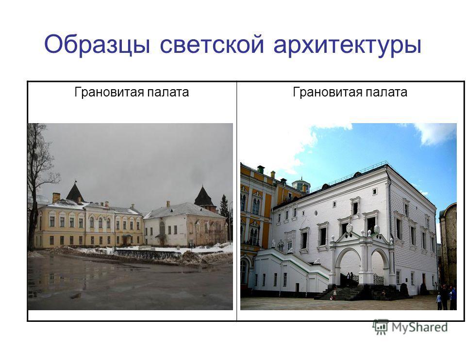 Образцы светской архитектуры Грановитая палата