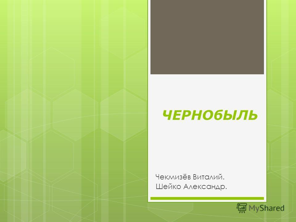 ЧЕРНОбЫЛЬ Чекмизёв Виталий. Шейко Александр.