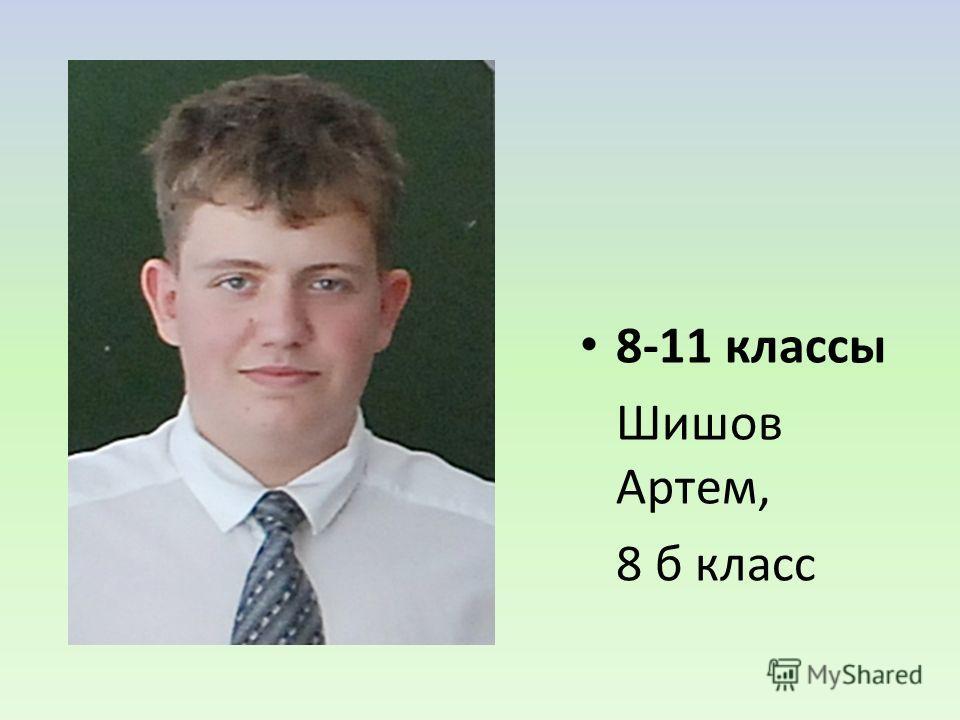 8-11 классы Шишов Артем, 8 б класс