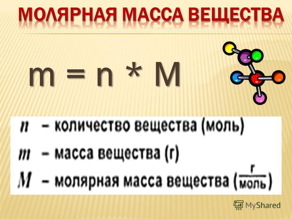 m = n * M