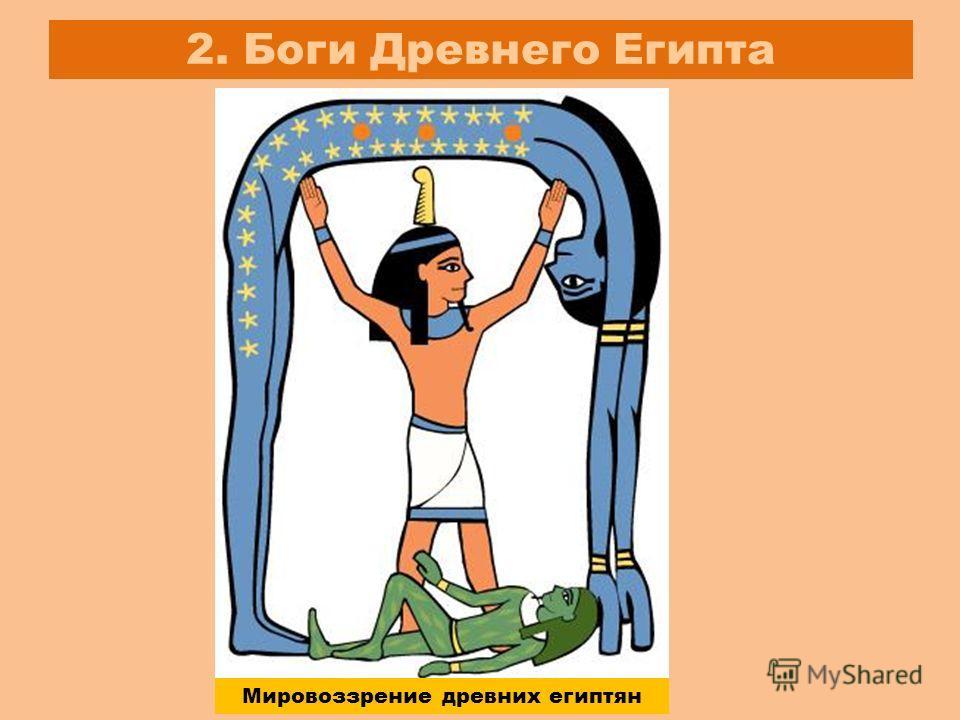 2. Боги Древнего Египта Мировоззрение древних египтян