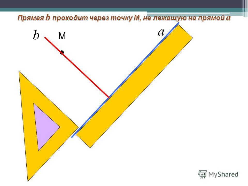 М Прямая b проходит через точку М, не лежащую на прямой а а b
