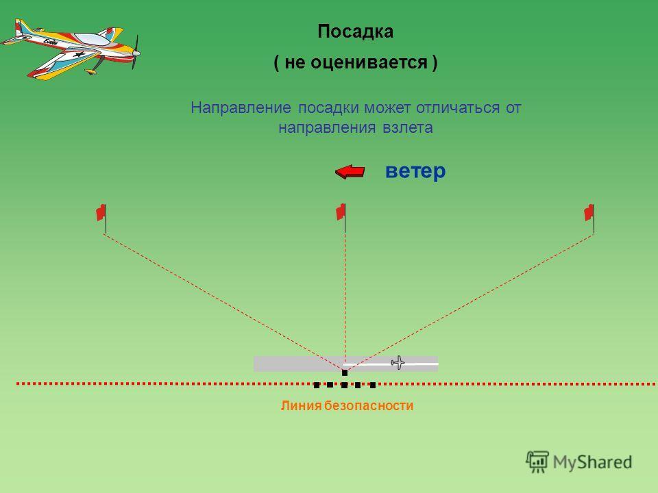 120 0 Линия безопасности ветер 4 Посадка ( не оценивается ) Направление посадки может отличаться от направления взлета