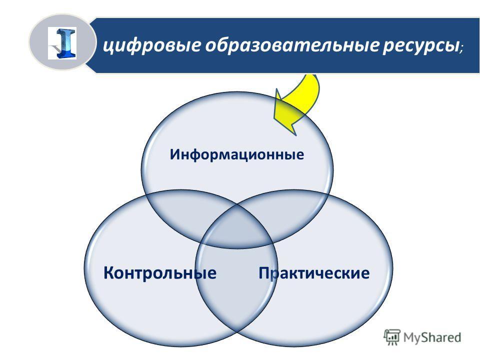 цифровые образовательные ресурсы ; Информационные Практические Контрольные