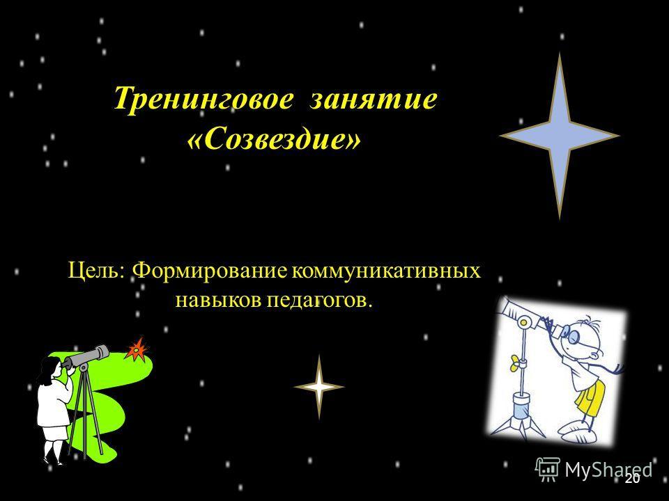 Тренинговое занятие «Созвездие» Цель: Формирование коммуникативных навыков педагогов. 20