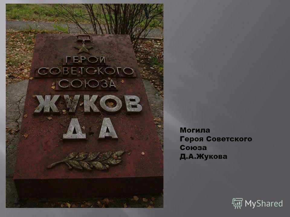 Могила Героя Советского Союза Д.А.Жукова