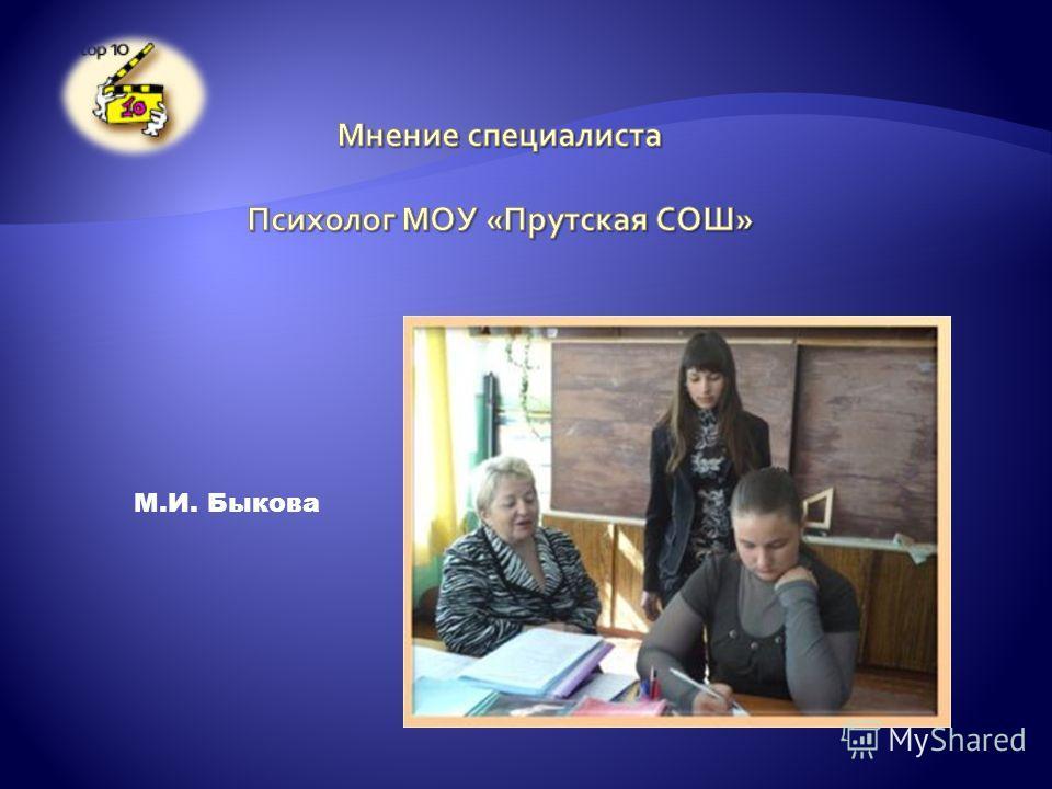 М.И. Быкова