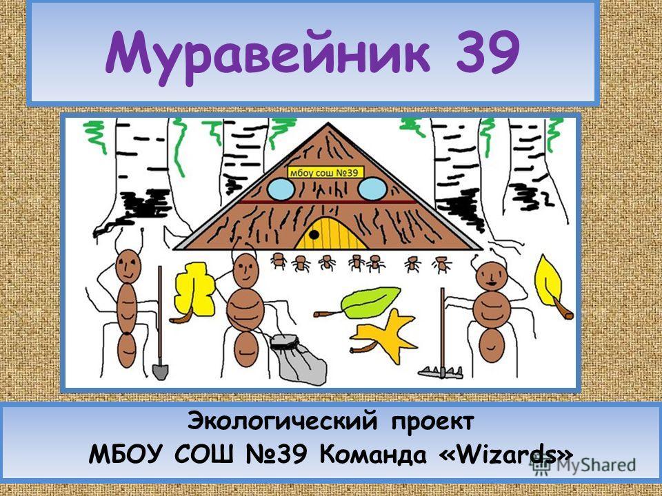 Муравейник 39 Экологический проект МБОУ СОШ 39 Команда «Wizards»