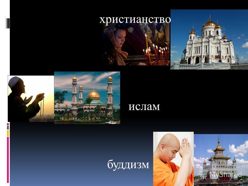христианство ислам буддизм