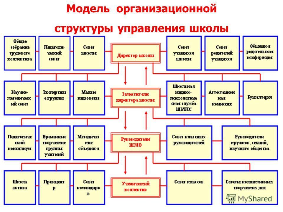 Модель организационной структуры управления школы