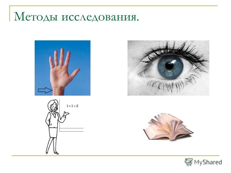 Методы исследования.