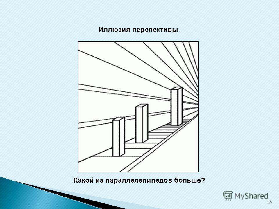 Иллюзия перспективы. Какой из параллелепипедов больше? 35