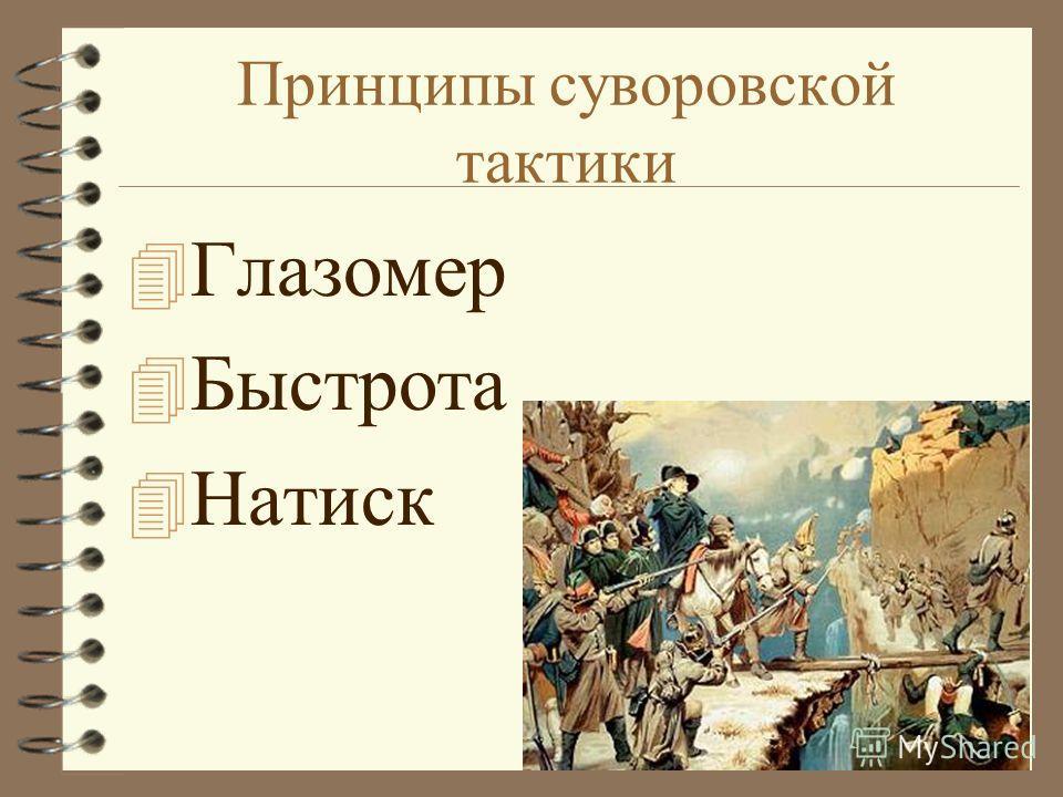 Принципы суворовской тактики 4 Глазомер 4 Быстрота 4 Натиск