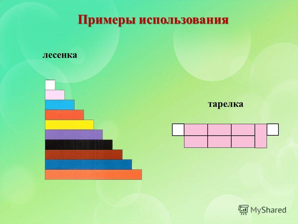 Примеры использования лесенка тарелка