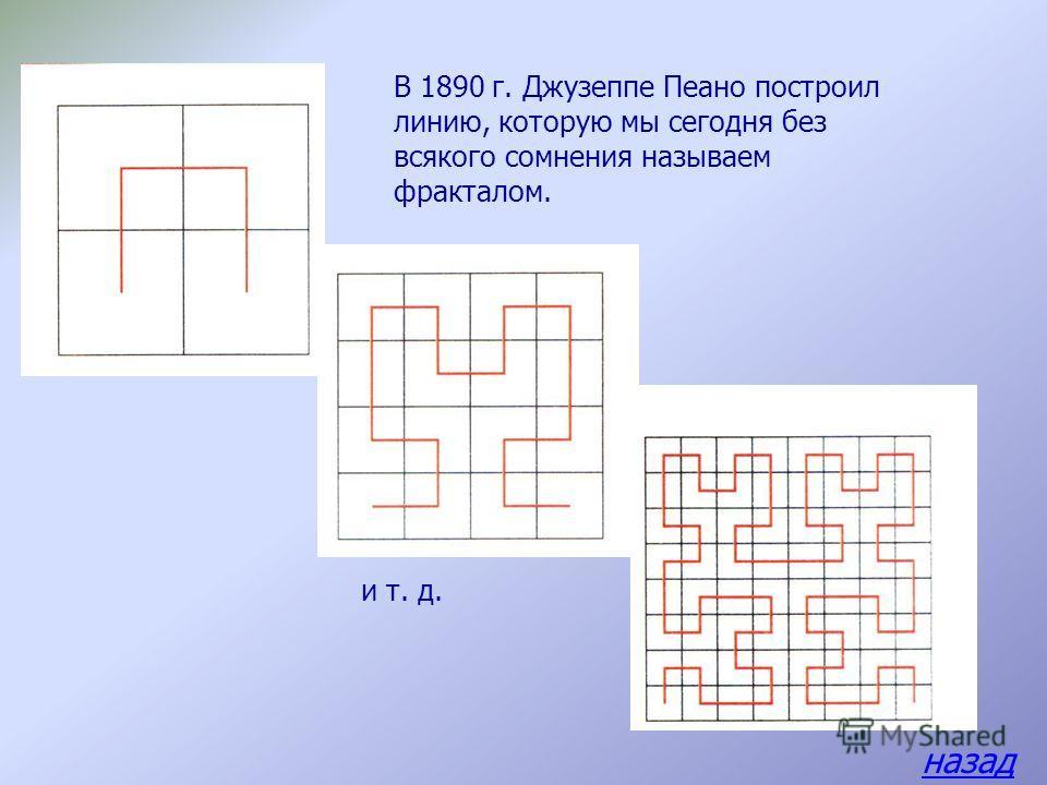 Определение фрактала, данное Мандельбротом звучит так: Фракталом называется структура, состоящая из частей, которые в каком-то смысле подобны целому. Т.е. из любой части фрактала, сколько его не увеличивай, будет смотреть его маленькая копия.