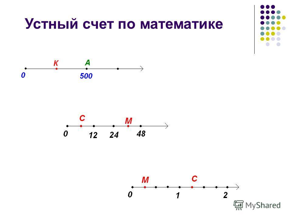 Устный счет по математике